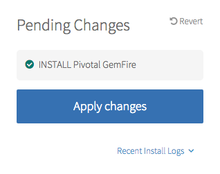 In Ops Manager, click Apply Changes