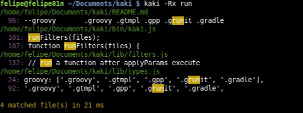kaki grep example