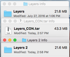 tar files doubled
