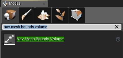 Add a nav mesh bound volume