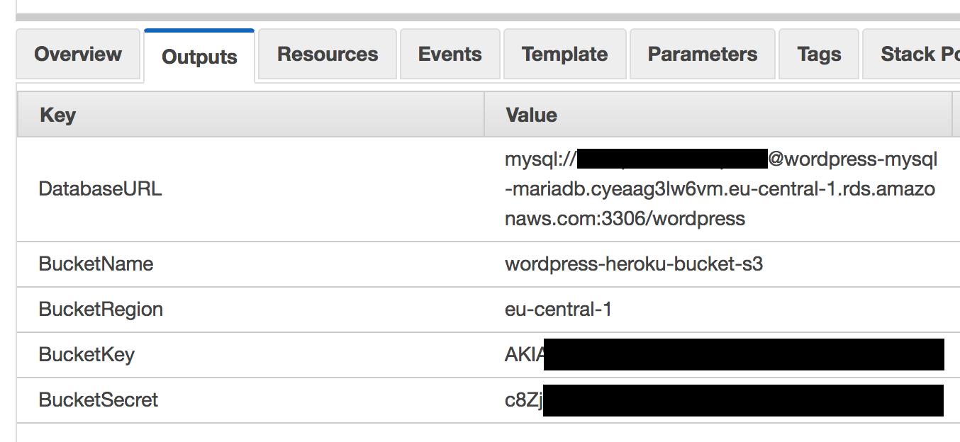 AWS Cloudformation script output