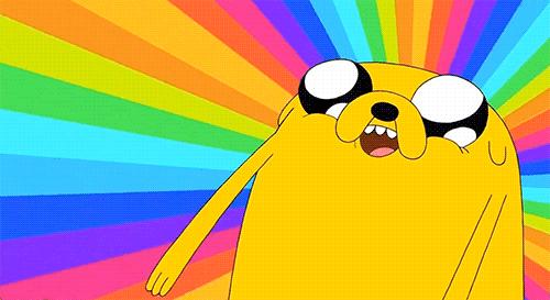 jake-the-dog-enjoys-the-rainbow