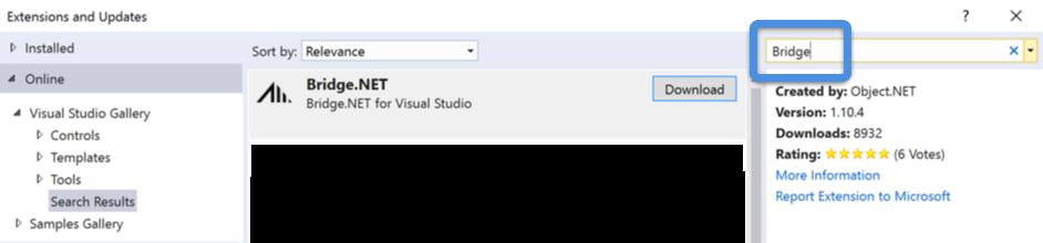 Bridge for Visual Studio
