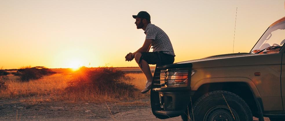 sittin' on a truck