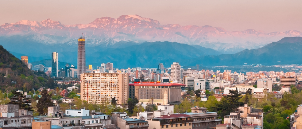The city of Santiago, Chile