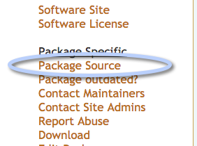 Package source link