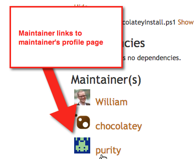 maintainers are links