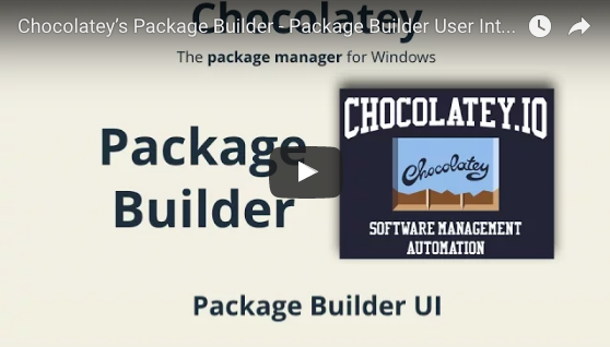Chocolatey's Package Builder - Package Builder UI