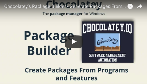 Chocolatey's Package Builder - Generate Packages from Programs and Features Automatically!