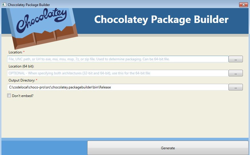 Package Builder UI