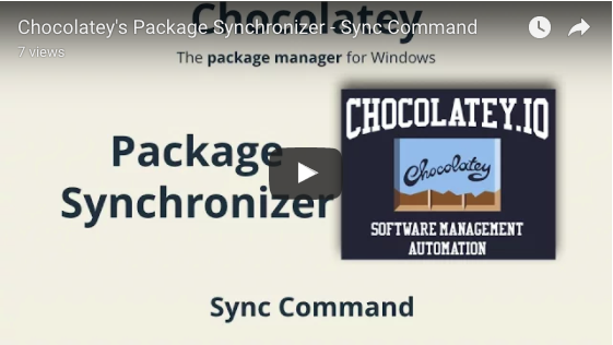 Chocolatey's Package Synchronizer - Sync Command