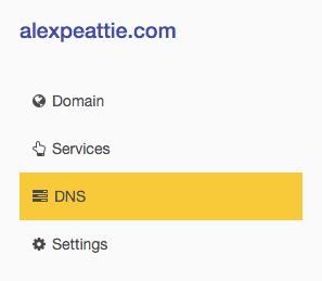 DNSimple sidebar