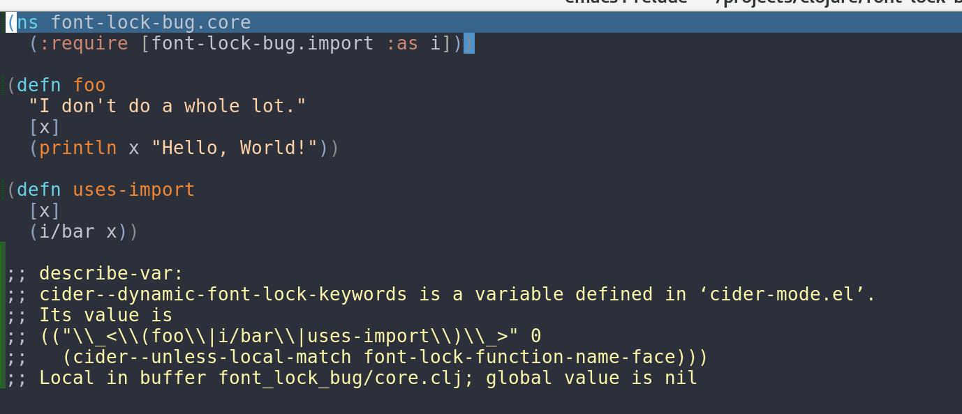 font-lock-bug