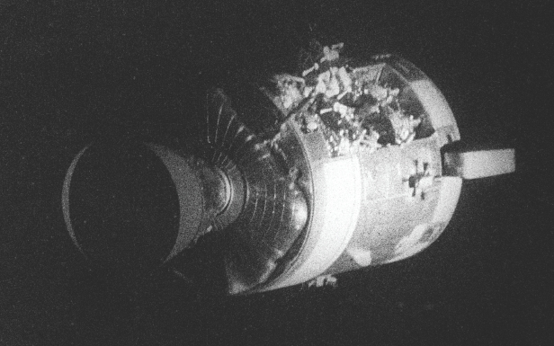 Apollo 13 with a blown out side