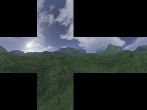 Cubemap saved as cross