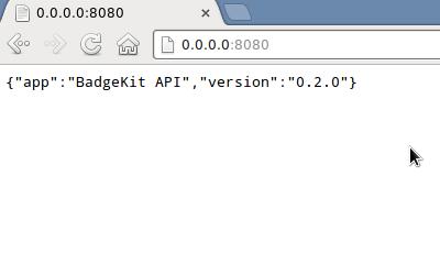 BadgeKit API Running