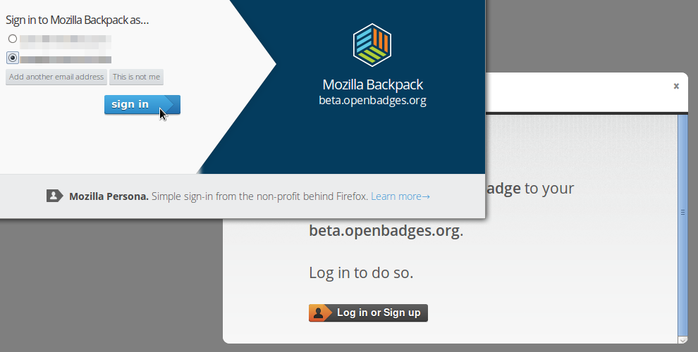Backpack Sign-in