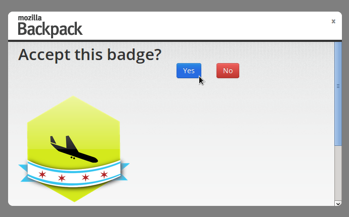 Accept the Badge