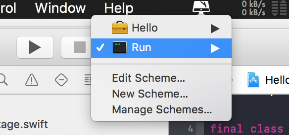 select 'run' from dropdown