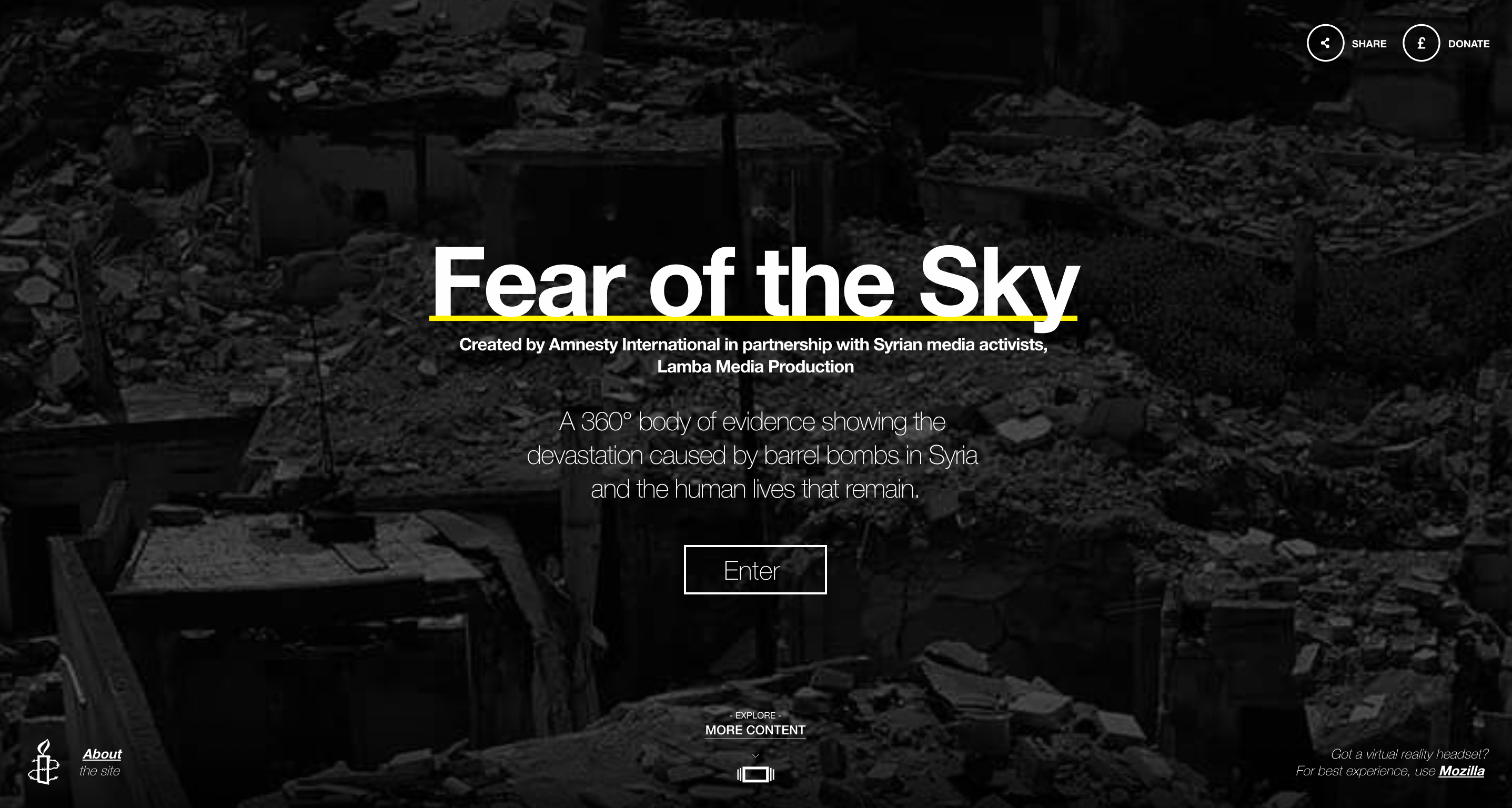 Fear of the Sky by Amnesty International UK