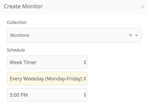 schedule monitor