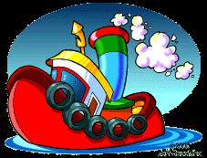 cartoon drawing of tugboat