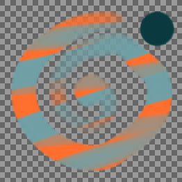 Colourize: Dark cyan is changed to the same brightness as the orange