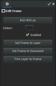 Frame Tool Options