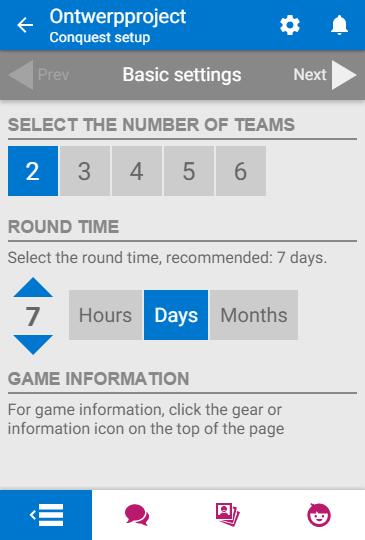 Teams and time setup