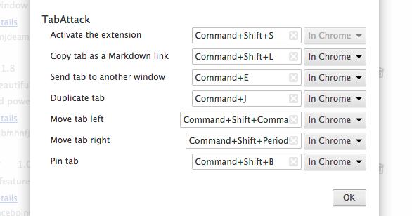 Keyboard shortcut overview