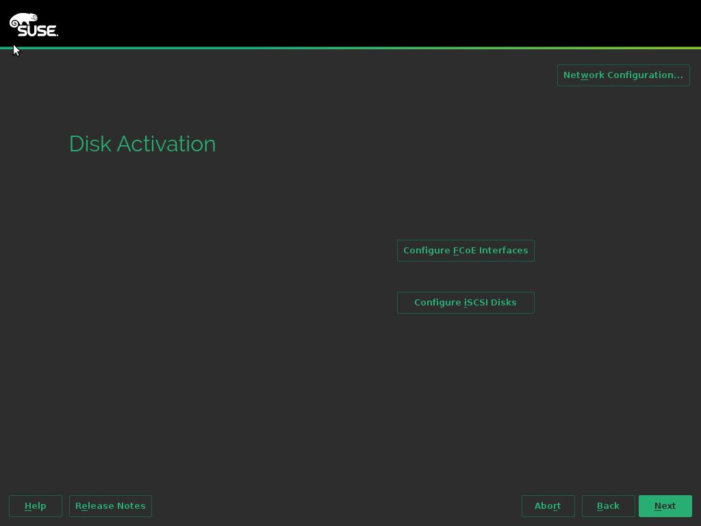 Disks Activation
