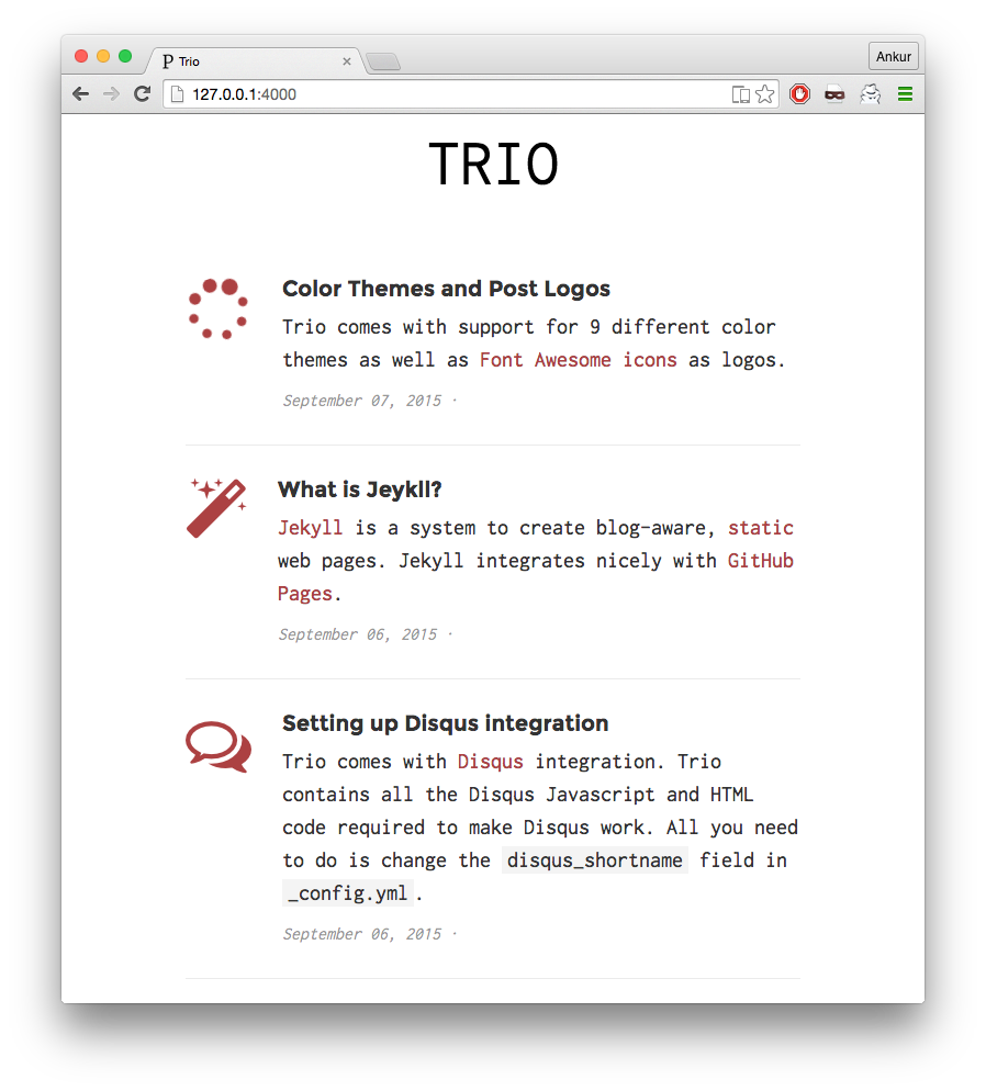 Trio with red color theme