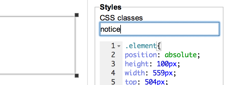 edit CSS classes of an element