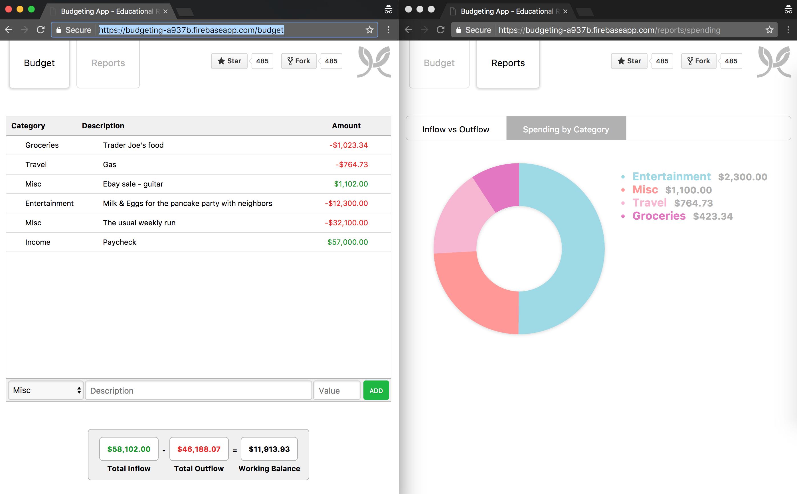 React Budgeting App