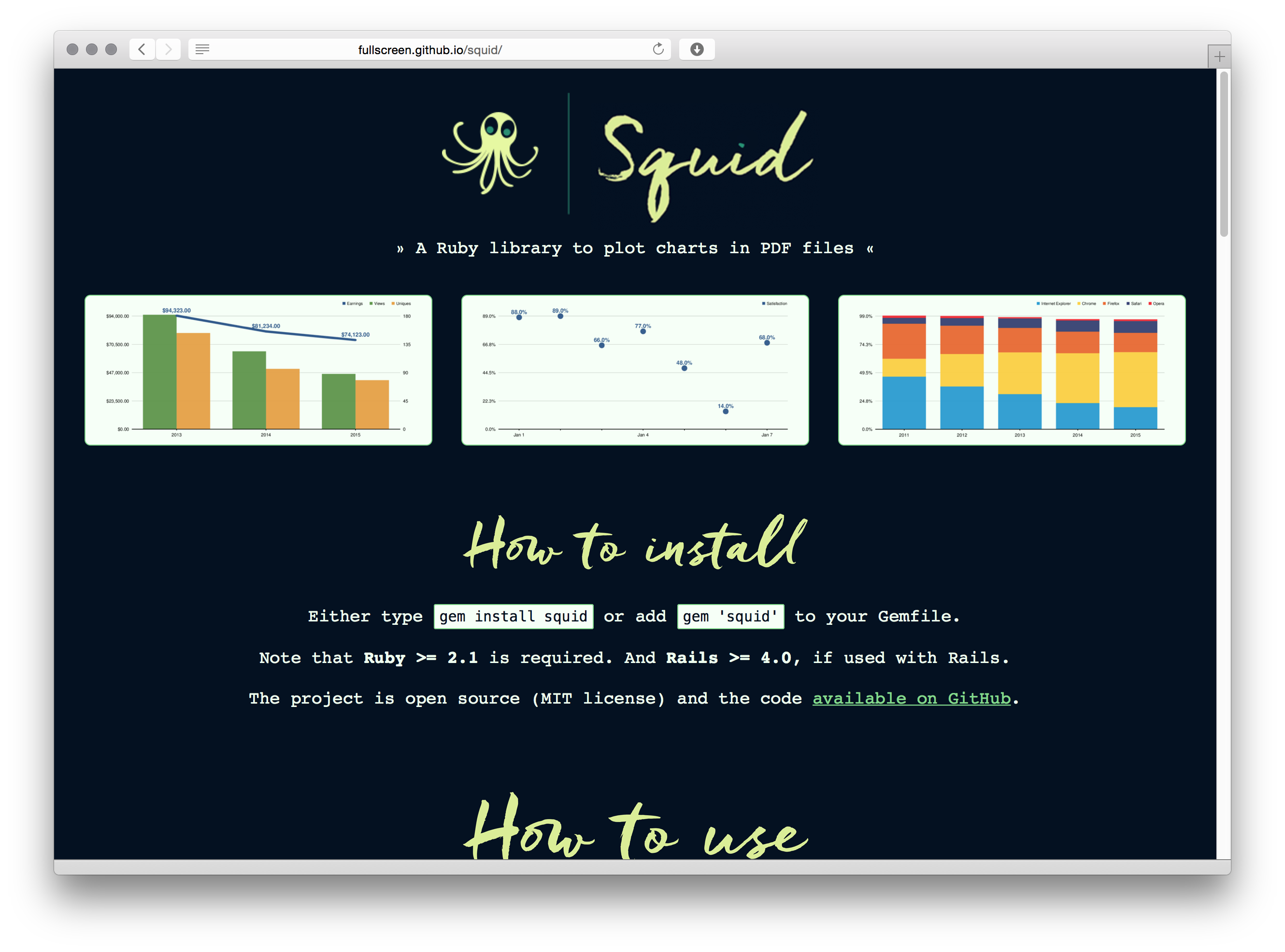 Squid homepage