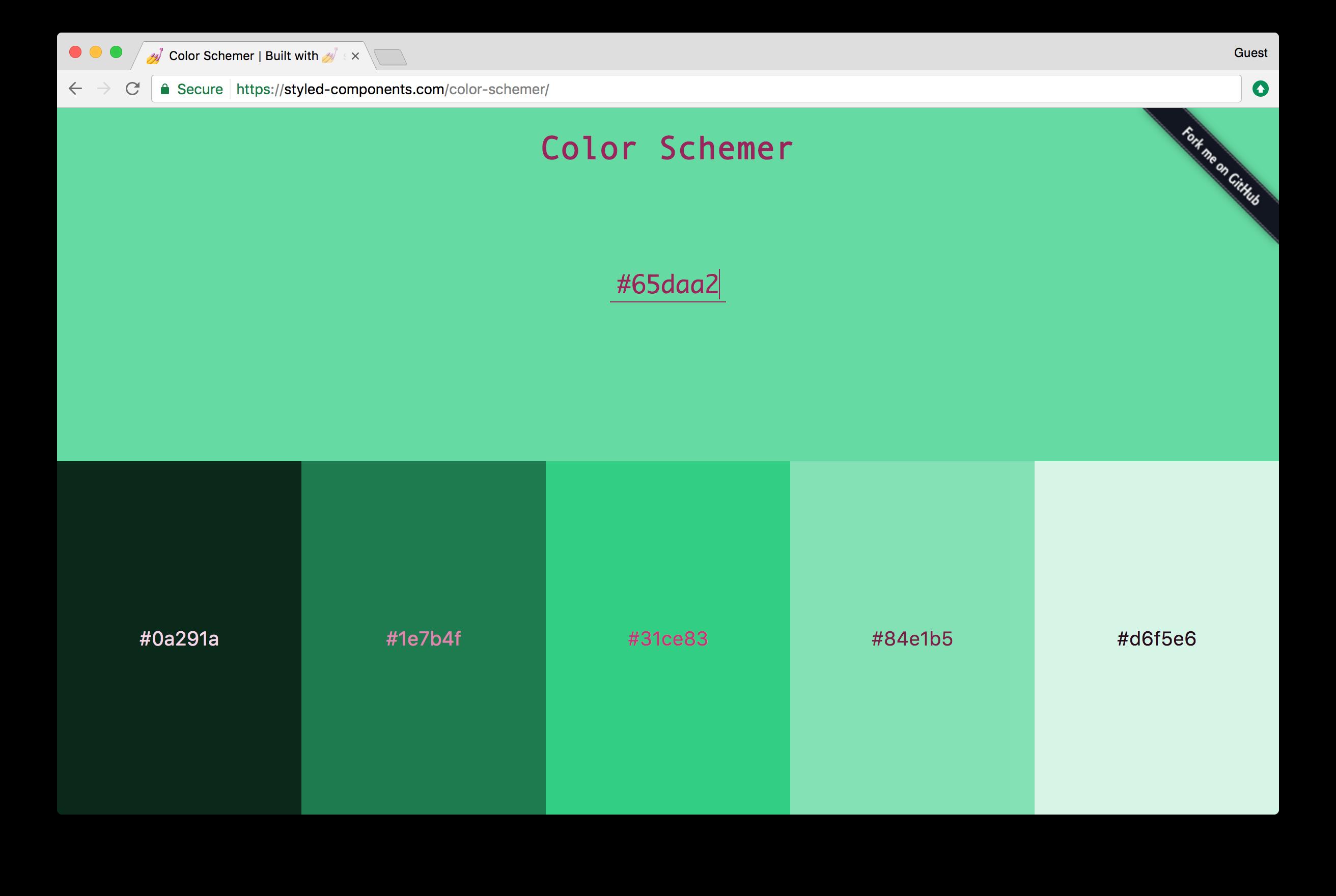 The color schemer app