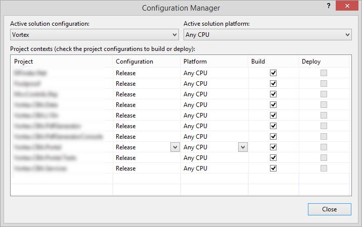 visualstudioconfigurationmanageractivesolutionconfigurationvsconfiguraitonsetforeachproject
