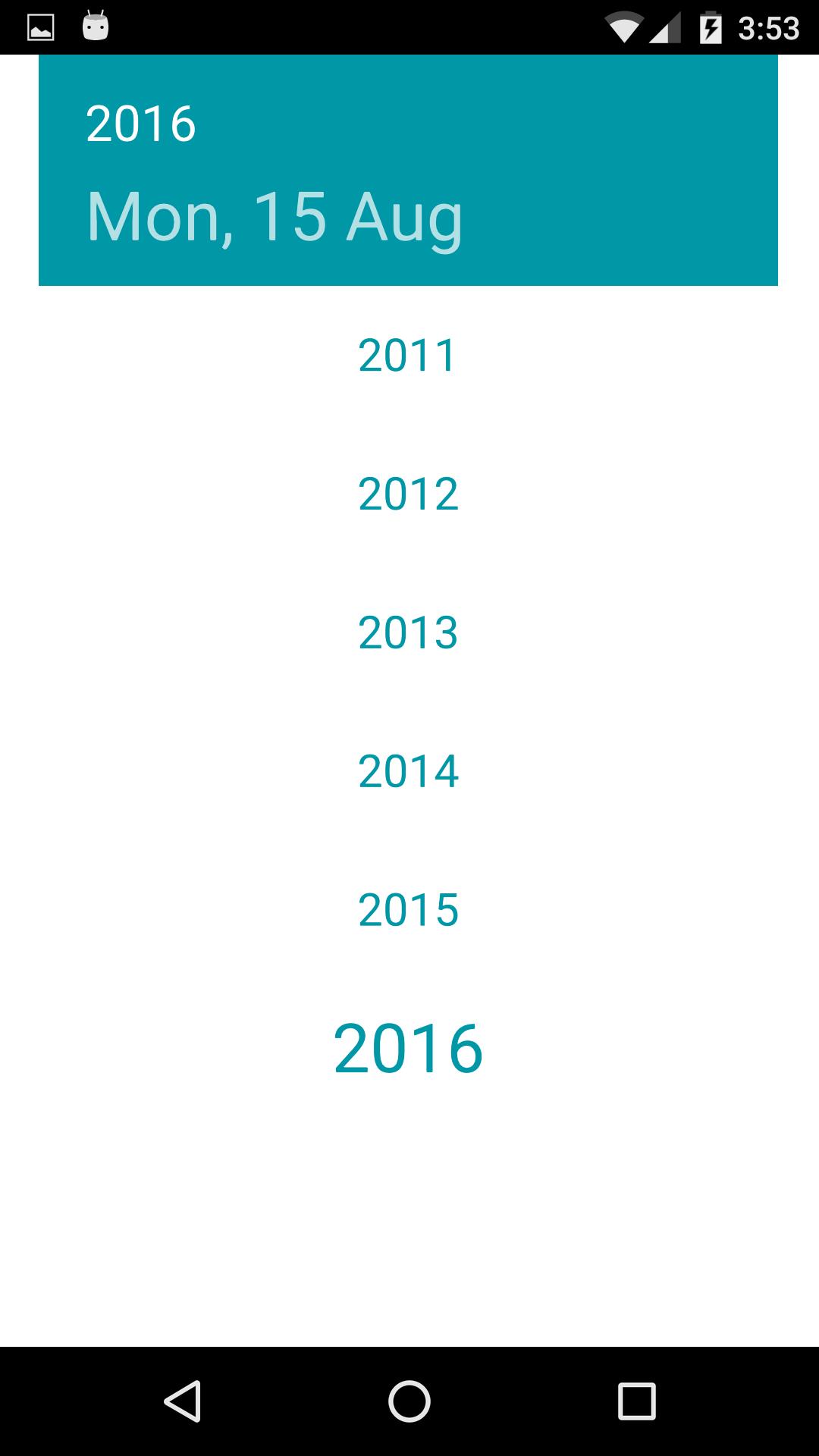 choose year