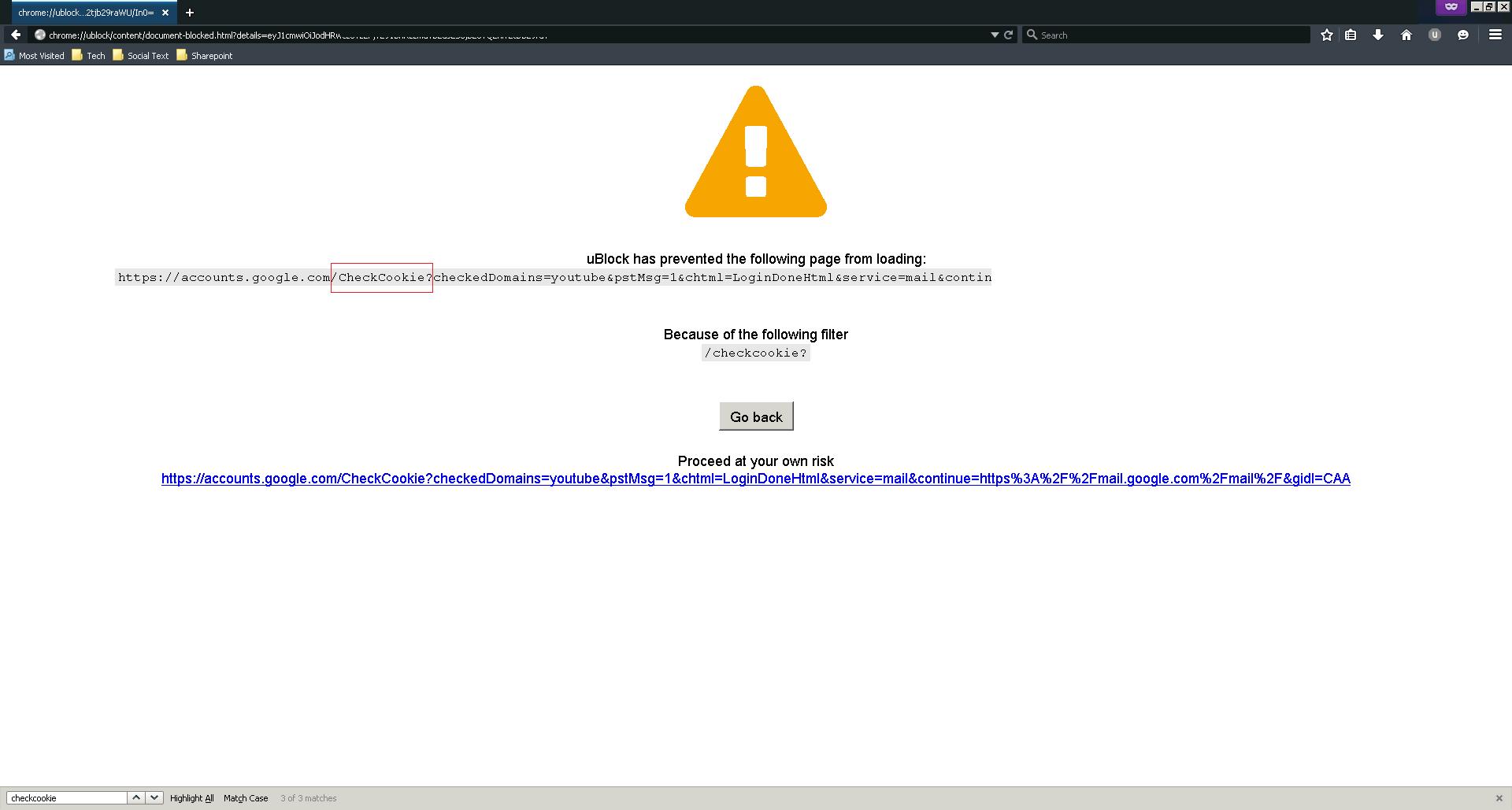 ublock incorrect block