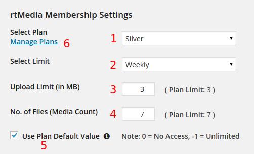 edit plan limit of user