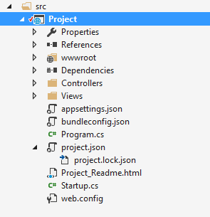 project lock json