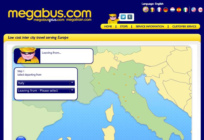 MegaBus map