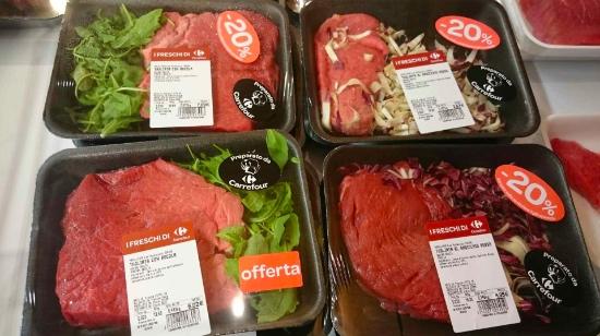 insalata contaminata con carne