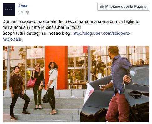Sciopero UNIONS e Uber