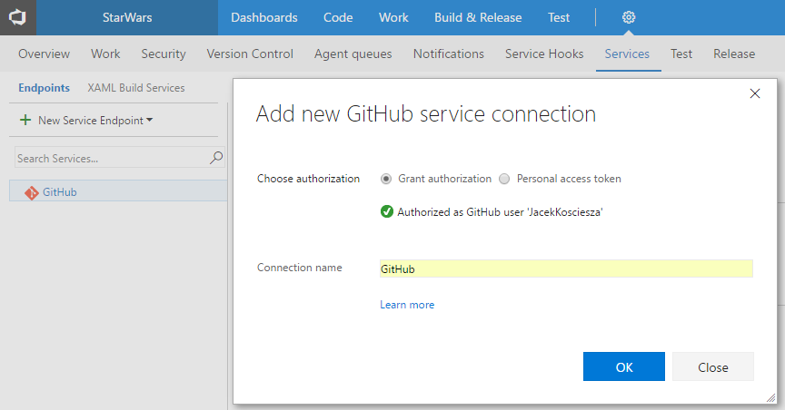 vsts-new-github-service-connection