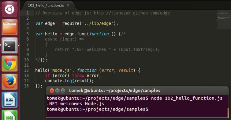 Edge.js on Linux