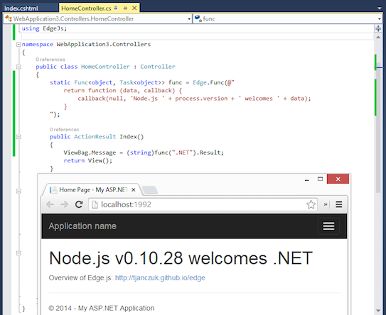Script Node.js in .NET console applications
