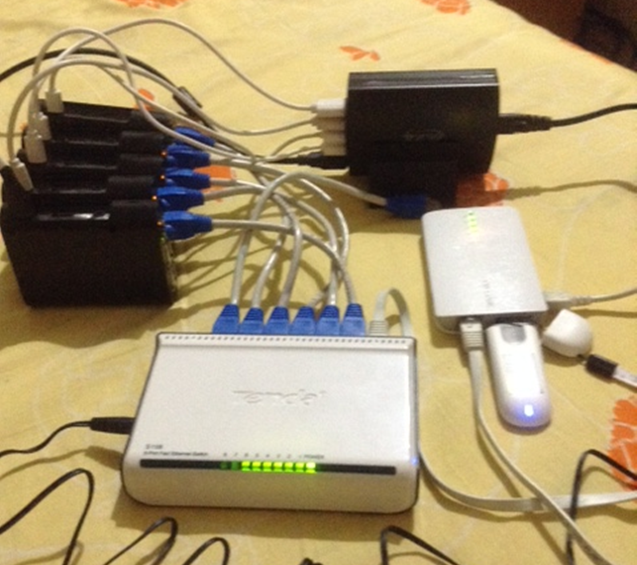 Image of a DIY openapphack pi cluster