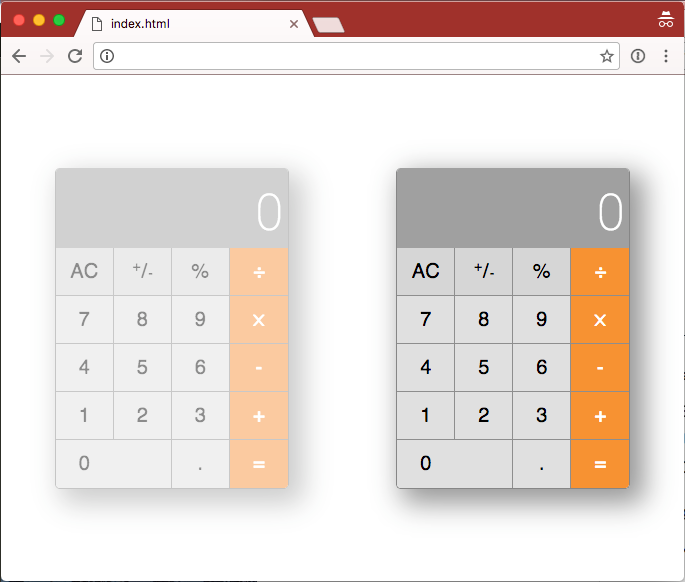 two-calculators-in-browser
