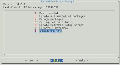 retropie-setup script 4-0-2